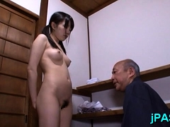 Japanese nurse gives a fellatio...