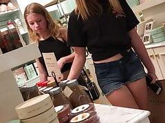 HS JB Teens wearing shorts at mall