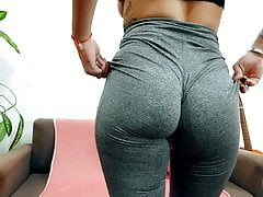 PAWG Teen Working Out in Tight...