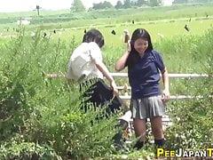 Japanese teens wetting their pants