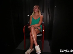 Tiny Blonde Sucks random dudes...