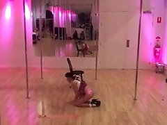 Teen pole dancing