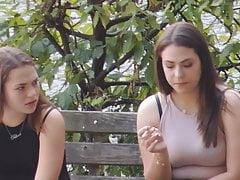 candid smoker teens