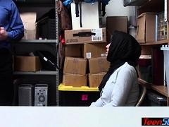 Huge titted muslim teen thief...