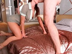 Hot Sexy Girl Riding Fast on...