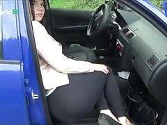 Beautiful girl car farts
