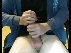 Two hands stroking my massive cock