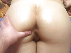 oil pussy creampie