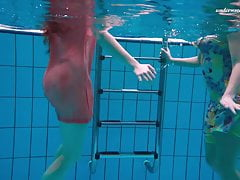 Liza and Alla underwater experience