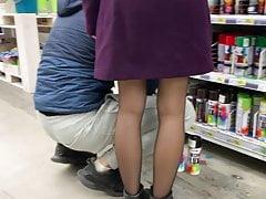 Teen upskirt stockings. Photo in...