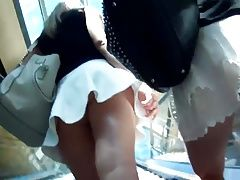 superb upskirt of 2 teen Blondes