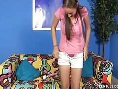 Naughty Teen Vibrating And Jerking