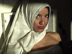 Beautiful Eyes White Hijab Arab...