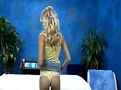 Peachy blondie receives...