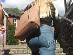 College girl arse close up