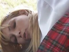 School Girl in the school bus orgy
