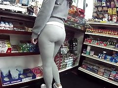 Big azz in grey sweat pants damn...