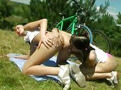 teen lesbians outdoors