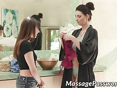Young Shyla Jennings massaged...