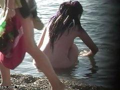 Cute nudist teen at the beach