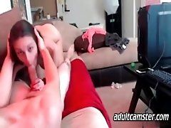 Brunette gets fucked on webcam