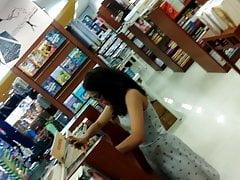 Indian teen upskirt in bookstore