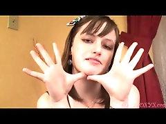 ROXY HAS HUGE HANDS