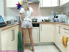Girl Kitchen flirt charming sexy...