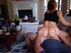 Homemade  Pov couch sex tape