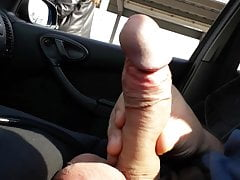 Dick flash in car for 2 sweet...