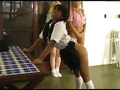 bare Brazilian bottom disciplined