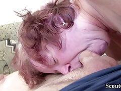 Hairy German Granny Teach Virgin...