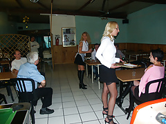 Amateur anal maids in restaurant