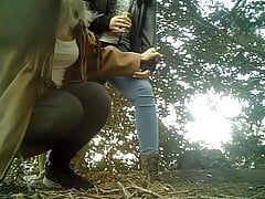 Girls Peeing Outside 12