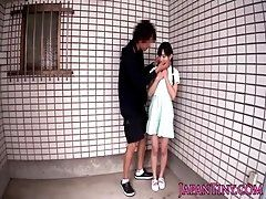 Innocent asian teens ass and...