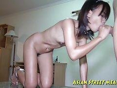 Small Tittie Thai Girl Buggered...
