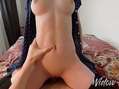 Hot redhead with big boobs makes...