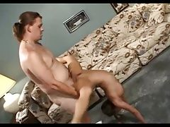 Young chick pounded hard in the...