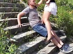 Babe Bitch ficken im Freien