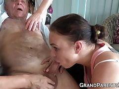 Wild grannies jerk off old cocks...