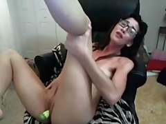 Talking dirty and fucking herself