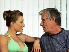 DADDY4K. Relaxed chick is in...