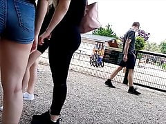 lovely young hotpants ass in public