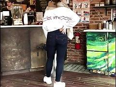 Cute teen full ass in tight...