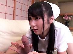 Nurse Chie Aoi pleases a patient...