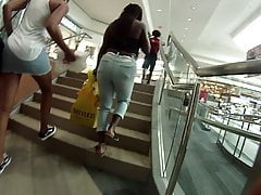 Nice ebony azzes I chased at the...