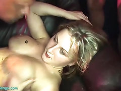 her first real gangbang party orgy