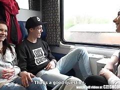Foursome Sex on Public TRAIN..