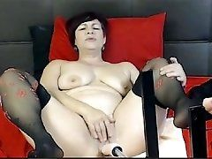 Latina Milf Fmachine on 4xcams.com