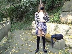 伪娘 公园露出...
